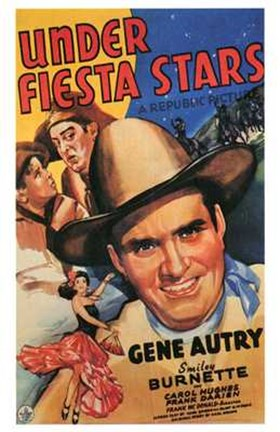 Framed Under Fiesta Stars movie poster Print