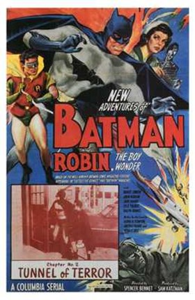 Framed Batman and Robin Tunnel of Terror Print