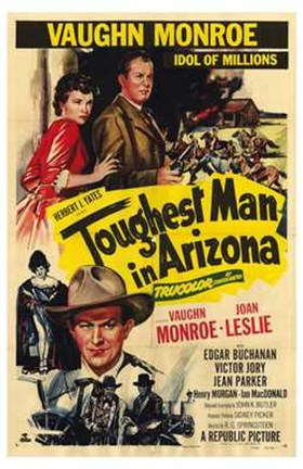Framed Toughest Man in Arizona (vintage movie poster) Print