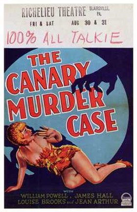 Framed Canary Murder Case With Louise Brooks Print