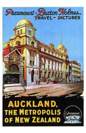 Framed Auckland  the Metropolis of New Zealand Print