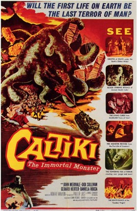 Framed Caltiki the Immortal Monster Print