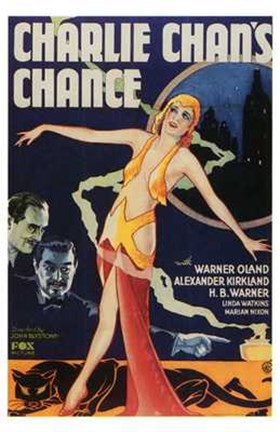 Framed Charlie Chan's Chance Print