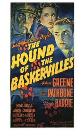 Framed Hound of the Baskervilles Sherlock Print