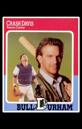 Framed Bull Durham - Crash Davis Print