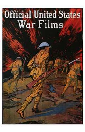 Framed Official United States War Films Print