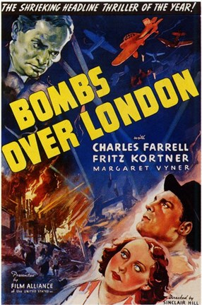 Framed Bombs Over London Print