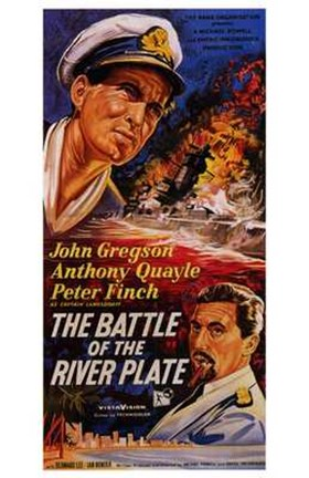 Framed Battle of the River Plate Print
