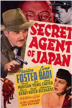 Framed Secret Agent of Japan Print