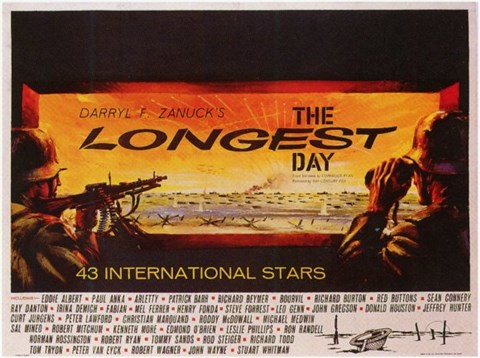 Framed Longest Day Darryl Zanuck Print