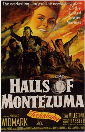 Framed Halls of Montezuma Print