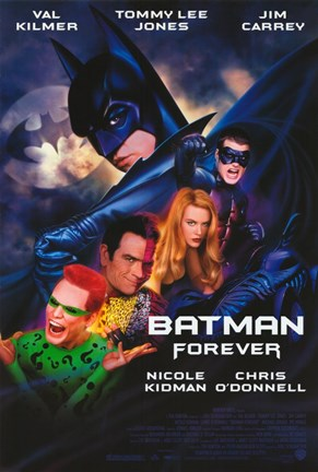 Framed Batman Forever Cast Print