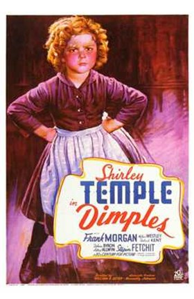 Framed Dimples Shirley Temple Print