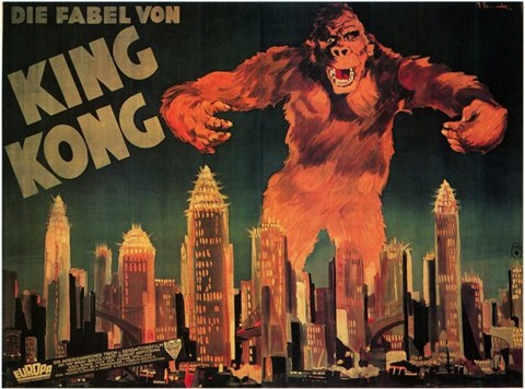 Framed King Kong City Skyline Print