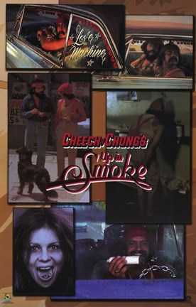 Framed Cheech and Chong's Up in Smoke Film Print