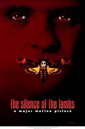 Framed Silence of the Lambs - red Print
