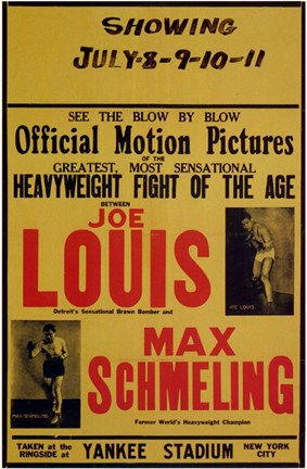 Framed Joe Louis and Max Schmeling Print
