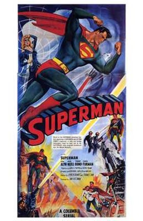 Framed Superman Comic Print