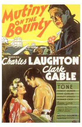 Framed Mutiny on the Bounty Laughton & Gable Print