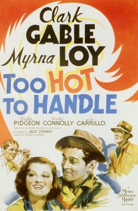 Framed Too Hot to Handle (movie poster) Print