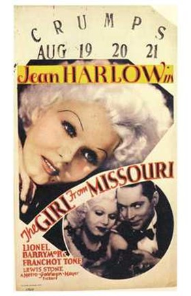 Framed Girl from Missouri Jean Harlow Print