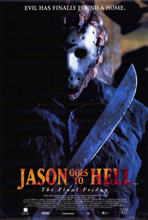 Framed Jason Goes to Hell:Jason Vorhees Print