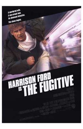Framed Harrison Ford is The Fugitive Print