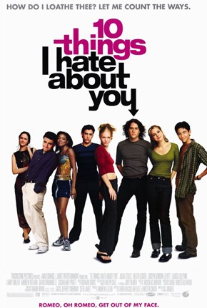Framed Ten Things I Hate About You Film Print