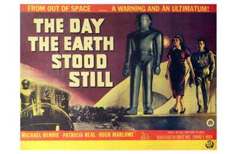 Framed Day the Earth Stood Still Horizontal Print