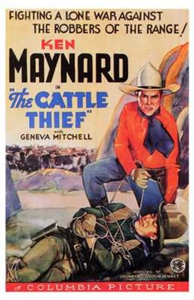 Framed Cattle Thief Print