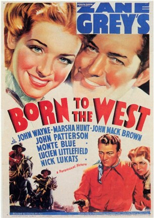 Framed Born to the West Print