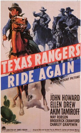 Framed Texas Rangers Ride Again Print