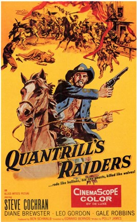 Framed Quantrill's Raiders Print