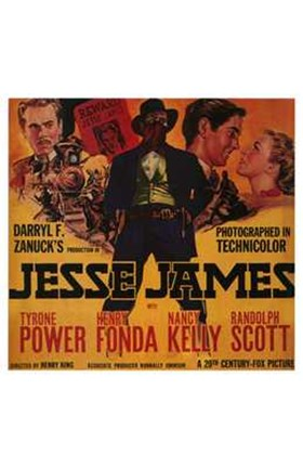 Framed Jesse James Power Fonda Kelly and Scott Print