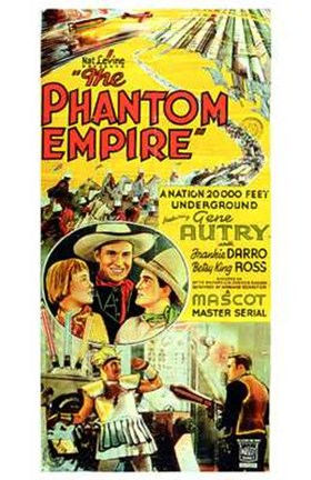 Framed Phantom Empire Gene Autry Print