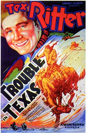 Framed Trouble in Texas Print