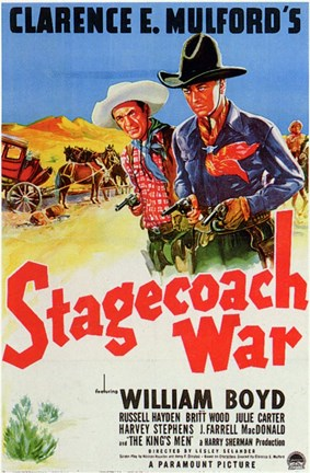 Framed Stagecoach War Print
