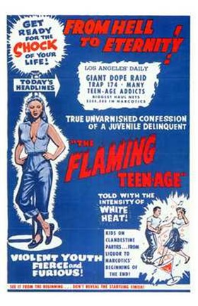 Framed Flaming Teen-Age Print