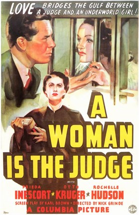 Framed Woman is the Judge Print