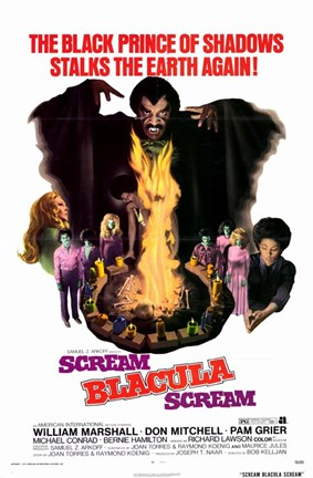 Framed Scream Blacula Scream Print