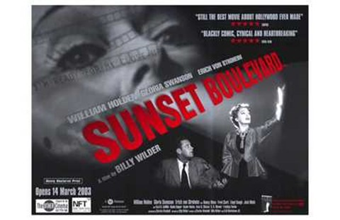 Framed Sunset Boulevard Black and White Print