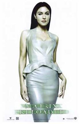 The Matrix Reloaded Monica Bellucci As Persephone Wall