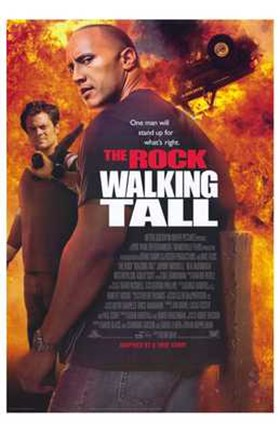 Framed Walking Tall The Rock Print