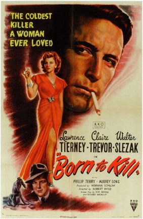 Framed Born to Kill Lawrence Tierney Print
