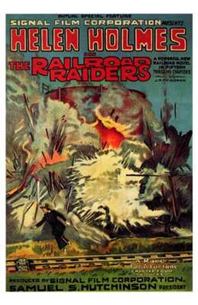 Framed Railroad Raiders Print