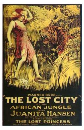 Framed Lost City African Jungle Print