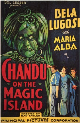 Framed Chandu on the Magic Island Print