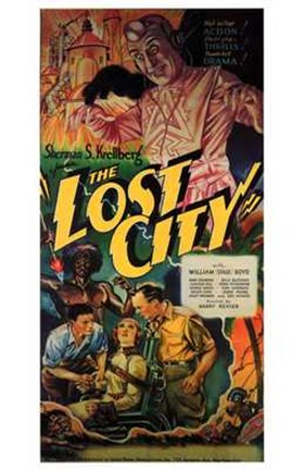Framed Lost City Vintage Print