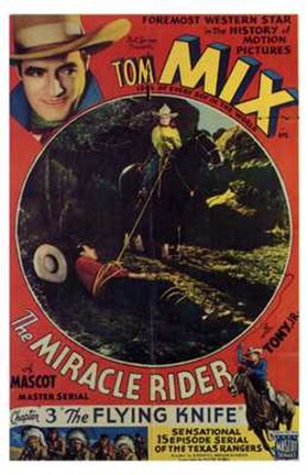 Framed Miracle Rider Tom Mix The Flying Knife Print