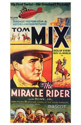 Framed Miracle Rider Tom Mix Mascot Print